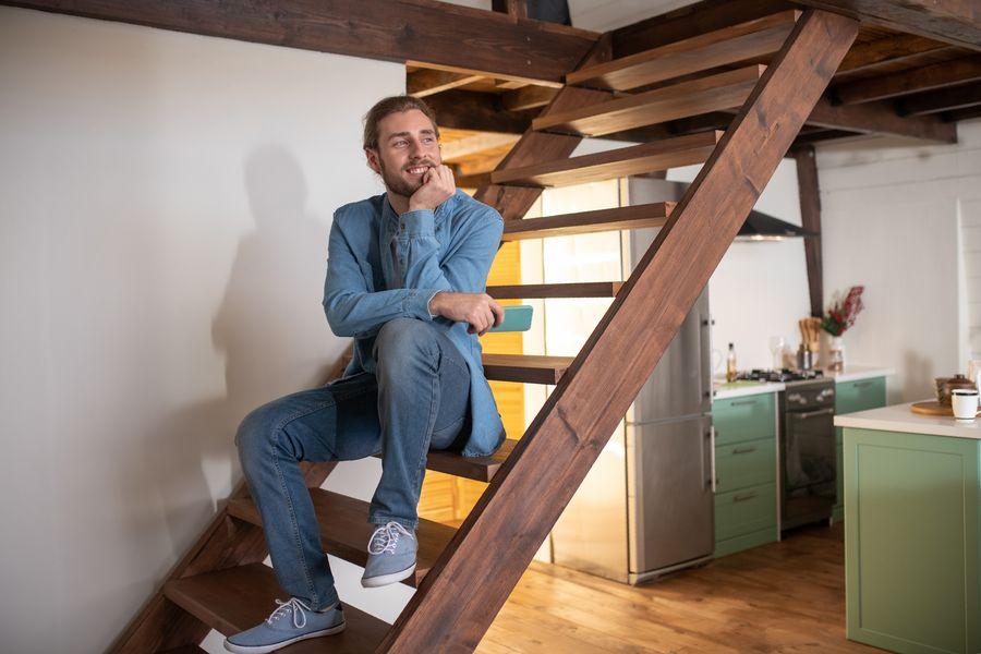 como hacer escalera de madera