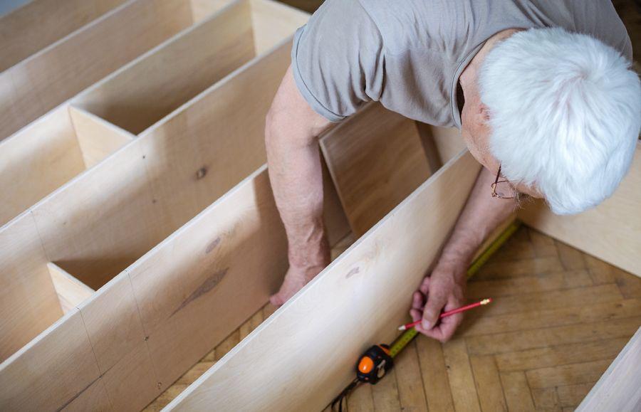 como hacer estantería de madera para pared