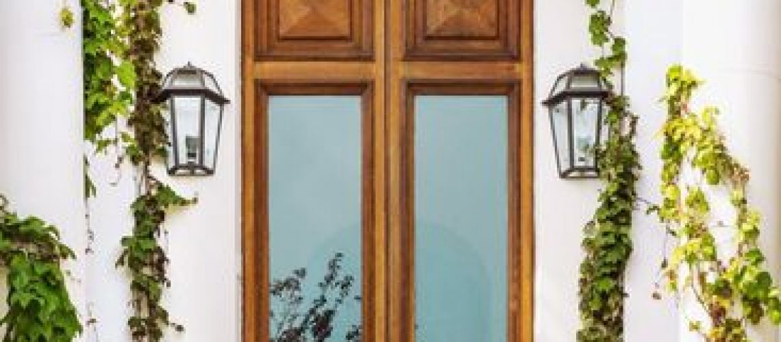 puertas de vidrio exteriores
